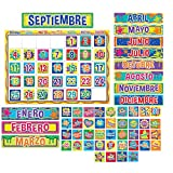 Eureka Classroom Bulletin Board Set, Color My World Spanish Calendar Bulletin