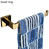 WINCASE European Short Towel Bar Towel Holder Towel Ring, Bathroom Accessories Solid Stainless Steel Polished Gold Luxury Style Wall Mounted