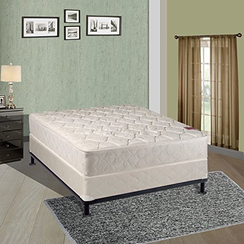 Continental Sleep Mattress, Fully Assembled Gentle Firm Orthopedic Queen Mattress and Box Spring, Legacy Collection -