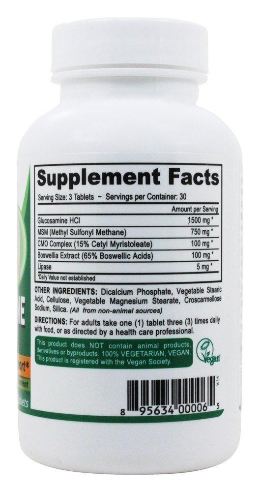 Deva Vegan Glucosamine Msm and CMO - 90 Tablets (Pack of 2)