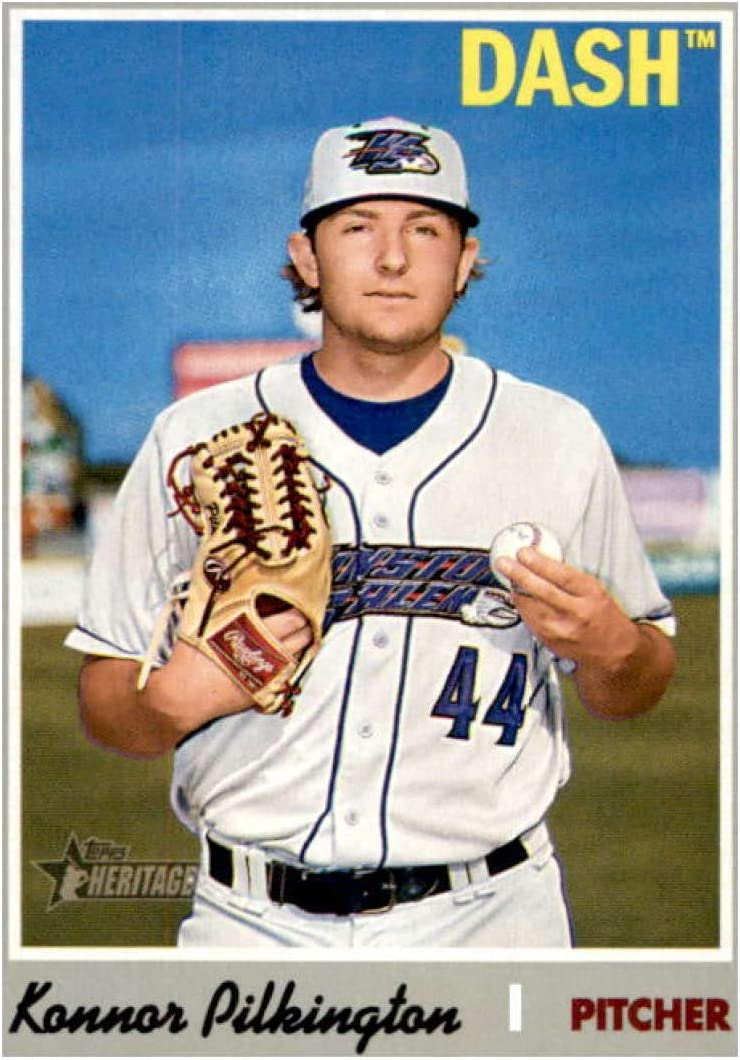 2019 Topps Heritage Minors #172 Konnor Pilkington RC Rookie Winston-Salem Dash Baseball Trading Card