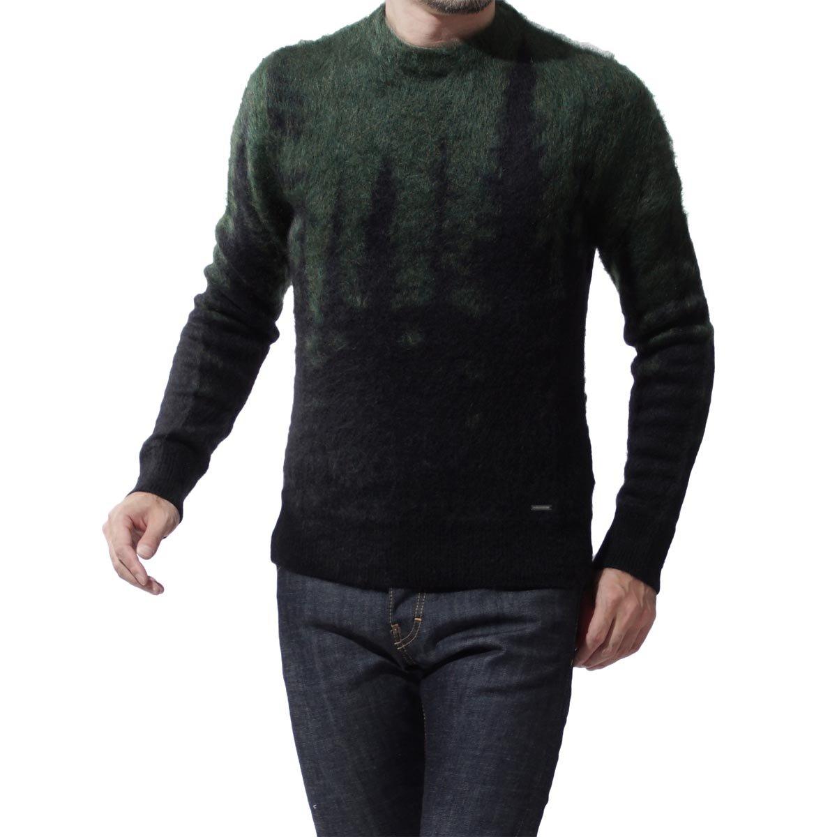 (ディースクエアード) DSQUARED2 モヘア セーター [並行輸入品] B07DHBCMH5 L|ダークグリーン ダークグリーン L