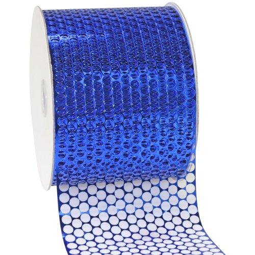 Morex Ribbon 288 Chicago Polypropylene Ribbon, 3-1/4 inch by 55 Yards, Royal Blue ()