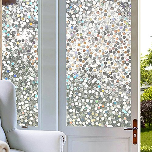 Dot Window Film Circles Pattern Glass Tinting Film Doors Window Covering Window Clings Decorative Window Decorative Film for Sliding Door Sun Room Home Office 17.7in. By 78.7in. (45 x (Dot Window)