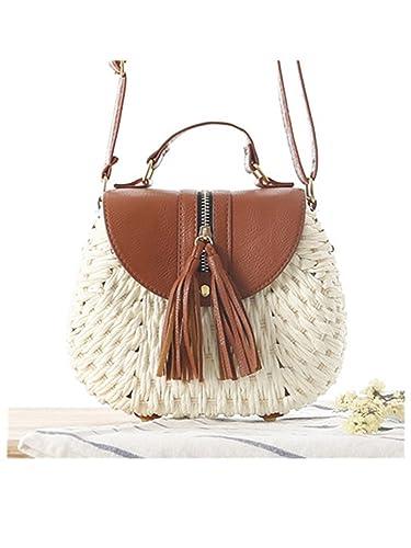 Susie Zechariah Beach Bag Women Summer Straw Small Shoulder Bag Female Mochila Woven Vacation Ladies Tassel