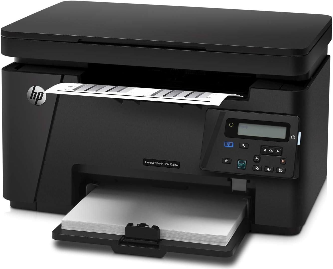 HP LaserJet Pro M125nw All-in-One Wireless Laser Printer (CZ173A) (Renewed)