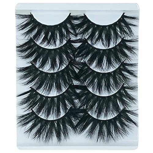 5 Pairs Exaggerated 3D False Eyelashes Thick Eyelashes Extension Long Lashes With Volume for Women