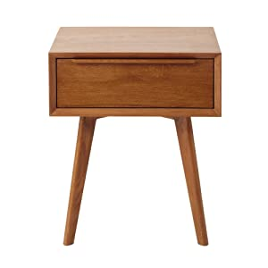 Aprodz Mango Wood Risco Bedside Storage Table for Living Room