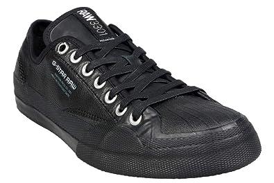 965585b398e7 G-Star - Rudder Leather - Basket Homme Cuir Noir  Amazon.fr ...