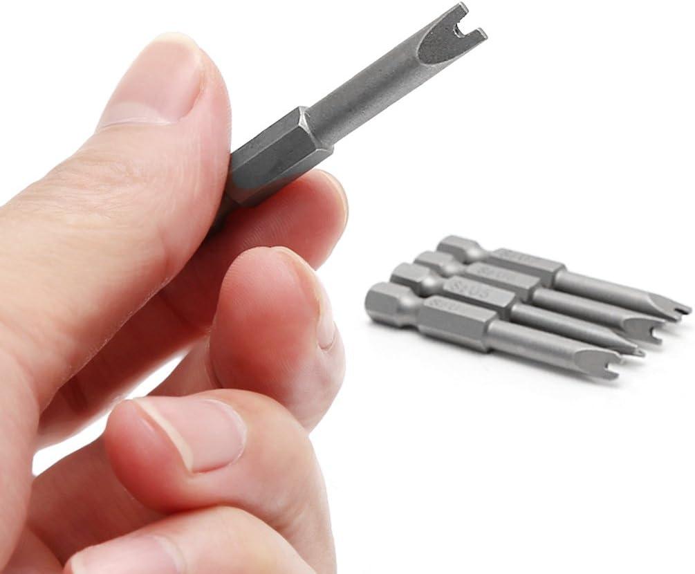 Jiamins 5pcs Screwdriver Bit U Shaped Screwdriver Bits Magnetic Screwdriver Bits U4-U8