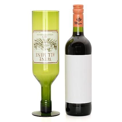 CKB Ltd® Vino todo mío cristal 25oz 750 ml botellas de un conjunto completo rojo
