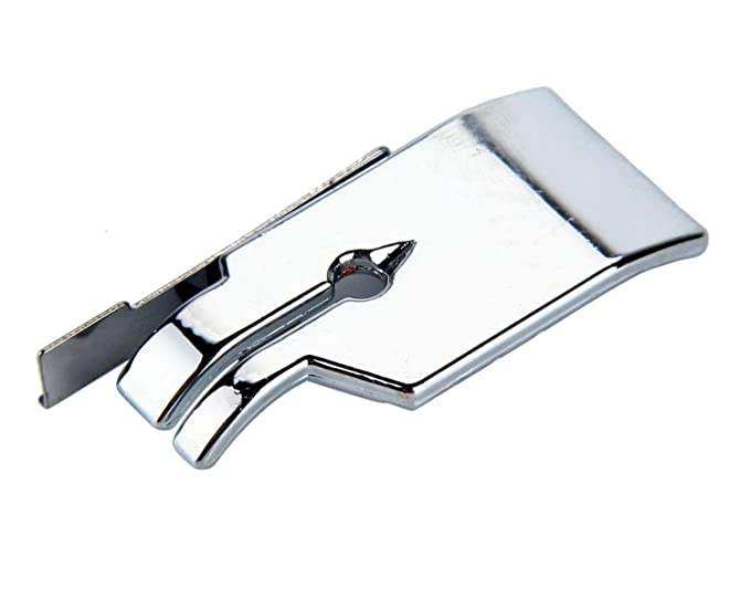 niceeshop(TM) Pie Prensatelas de Coser Eléctrica del Acero Inoxidable 1/4 para los Accesorios del Máquina de Coser, Plata/blanco: Amazon.es: Hogar