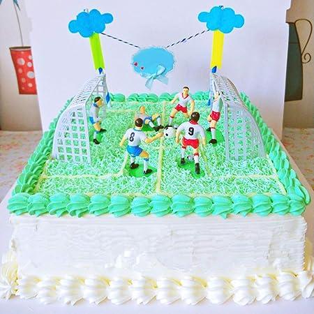 Creative 8pcs//Set Soccer Football Cake Topper Player Birthday Cake Decor Model