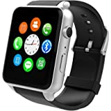 Smart Watch- Yarrashop Uwatch Smart Watch with Heart Rate Monitor Android Smart Watch Phone Sports Bluetooth Wristwatch With 3G magsensor gravity sensor Compatible With IOS & Android (Silver)