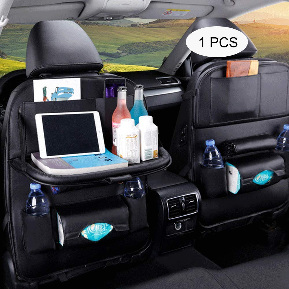 Amazon Com Bollaer Car Back Seat Organizer With Foldable Table