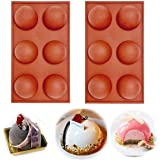 6 Holes Silicone Mold For Chocolate, Cake, Jelly, Pudding, Handmade Soap, BPA Free Cupcake Baking Pan (2)