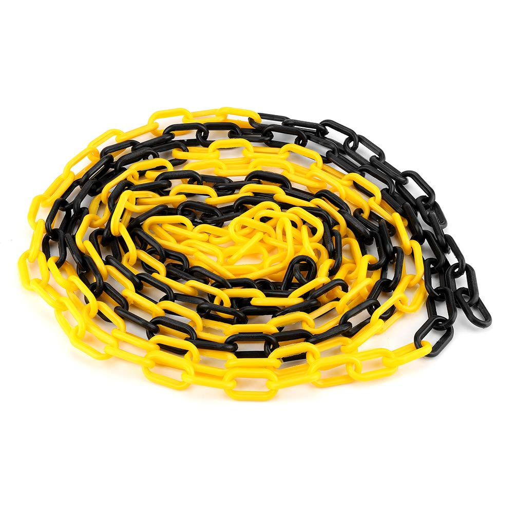 5m 6mm Plastic Chain, UV Protected, Road Warning Block Barrier for Traffic Crowd Parking Control Wal front