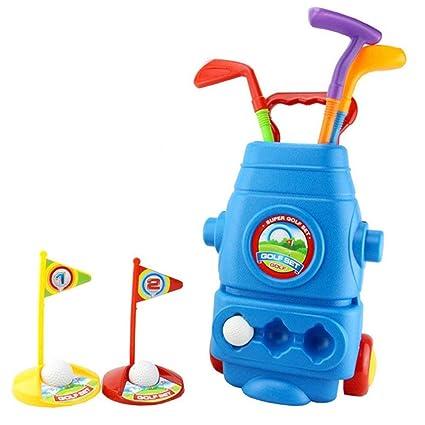 RANRANJJ Juego de club de golf para niños: carrito de golf ...