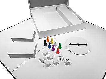 Apostrophe Games CREA tu Propio Juego de Mesa (Tablero de Juego en Blanco, Caja y Accesorios) con Piezas de Juego, Tarjetas en Blanco Spinner en Blanco y Dados: Amazon.es: Juguetes y juegos