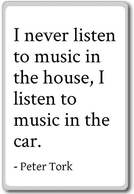 Imán para nevera con frases en inglés «I Never escuchar música in ...