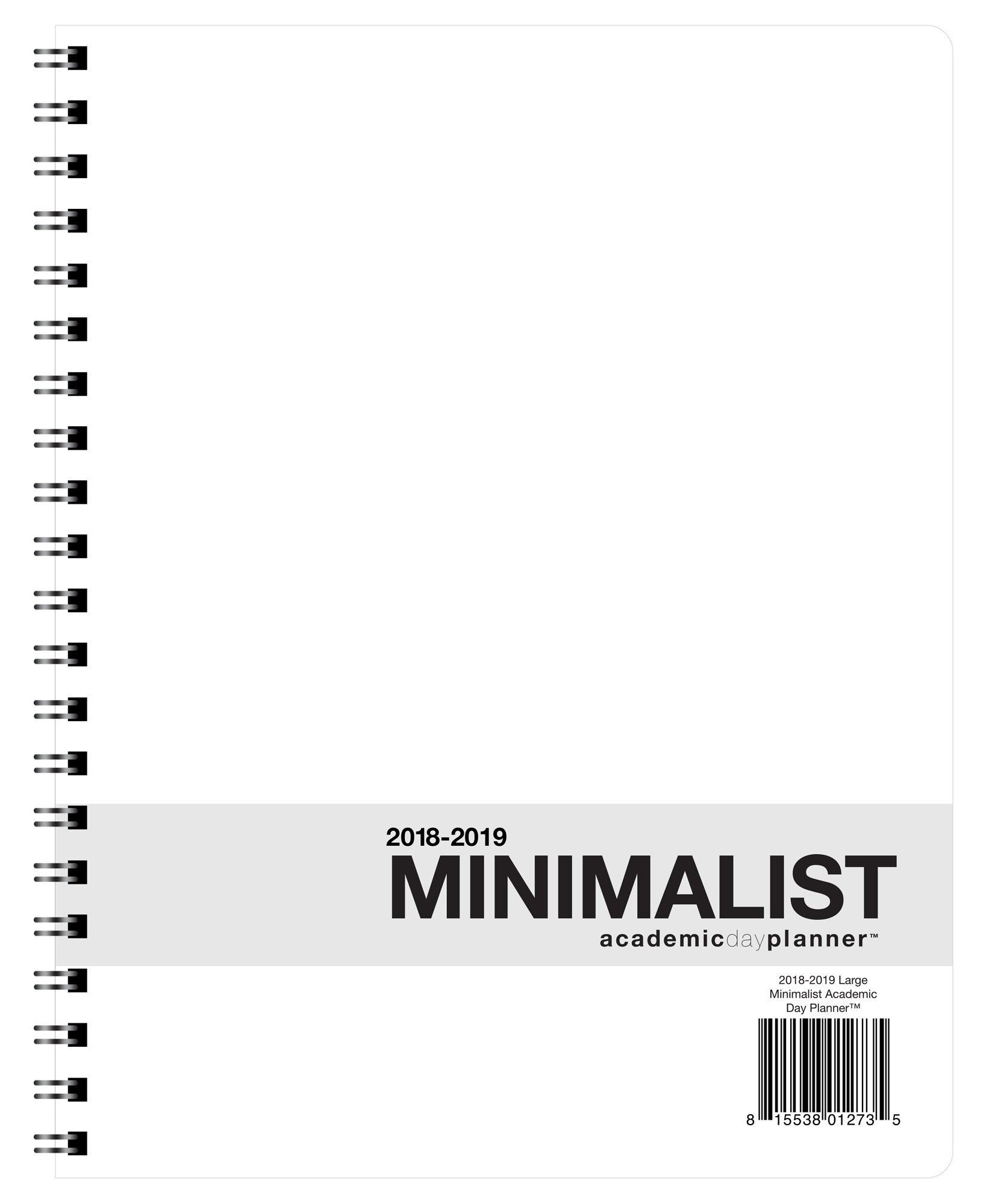 Action Publishing · Minimalist Student Planner · Dated Weekly and Monthly Agenda for Academic Year 2018-2019 · Large (8.5 x 11 inches)