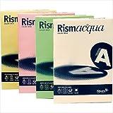 Favini A65X224 Rismacquaa4 Cartoncino Colorato, 140 g/Mq, Assortiti 5 Colori