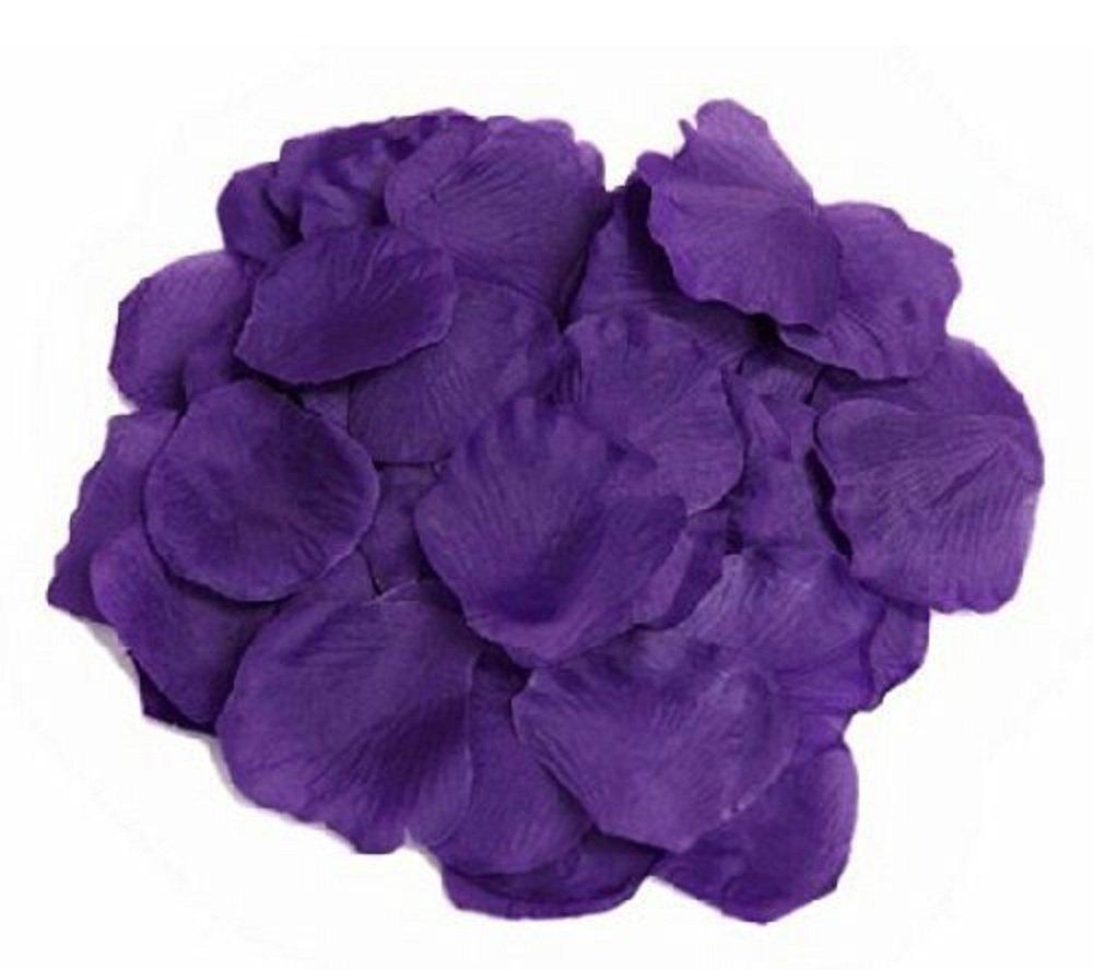 Hosaire 1000 Silk Rose Petal Flower Confetti Engagement Celebration Wedding Decoration Multicolor Purple
