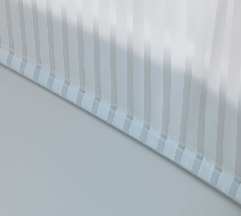 Wenko Tenda a Rullo per Doccia e Vasca da Bagno 132 x 240 x 5 cm in Alluminio Impermeabile e Facile da Pulire Bianco ad Asciugatura Rapida