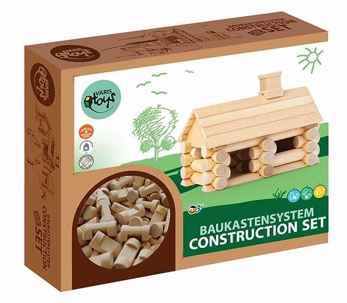 Construction Set 31 Teile Blockhaus