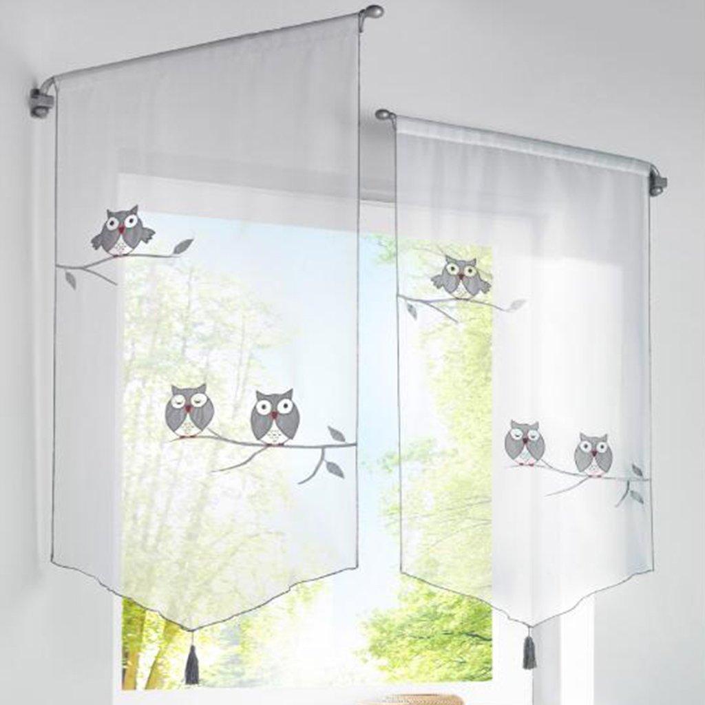 Amazon.de: SIMPVALE 1 PC Gardine Fensterdekoration Fenster Bise ...