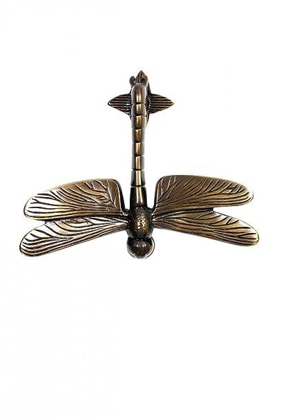 Bon Door Knockers Antique Brass Dragonfly Door Knocker 4 7/8H 6 3/8W