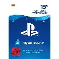 PSN Card-Aufstockung | 15 EUR | PS4, PS3, PS Vita Playstation Network Download Code - deutsches Konto