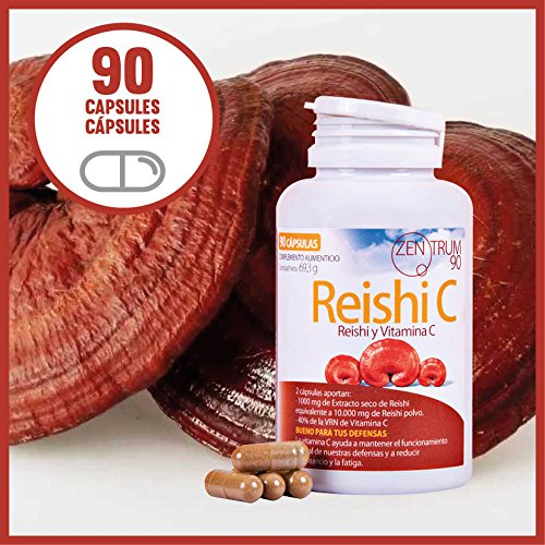 Amazon.com: Reishi, Reishi and vitamin C, 100% natural, 90 capsules, 10000 mg of Reishi mushroom powder, Good for your defences, reduces tiredness and ...