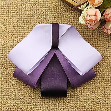 Camisa púrpura Mariposa Cuello Corbata Broche Escuela Mujer Camisa ...