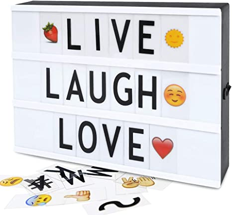A4 LED Cinematic Message Light Box Own  Board Letter 84 Sign Symbol Party Decor