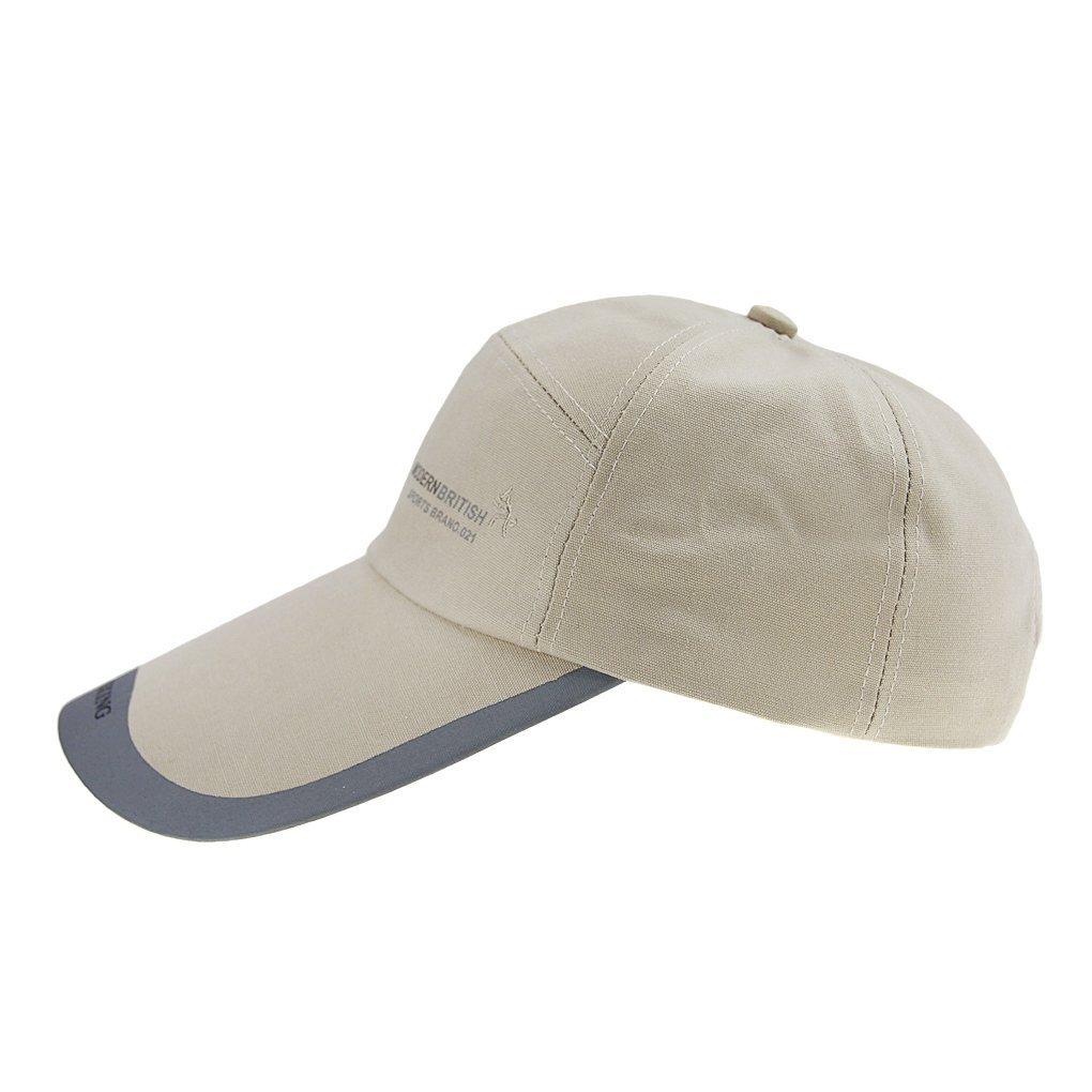 BXT Gorra de algodón de béisbol para hombre, unisex, con visera de 10, 3 cm, gorra de camionero, de viaje, vacaciones, playa, sombrero para el sol, ...