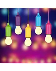 LED Lampada, Rottay Handy Lux Colors 5 Pezzi LED Lamp per Pesca, Campeggio, Tenda, Festa, da Esterno o da Interno