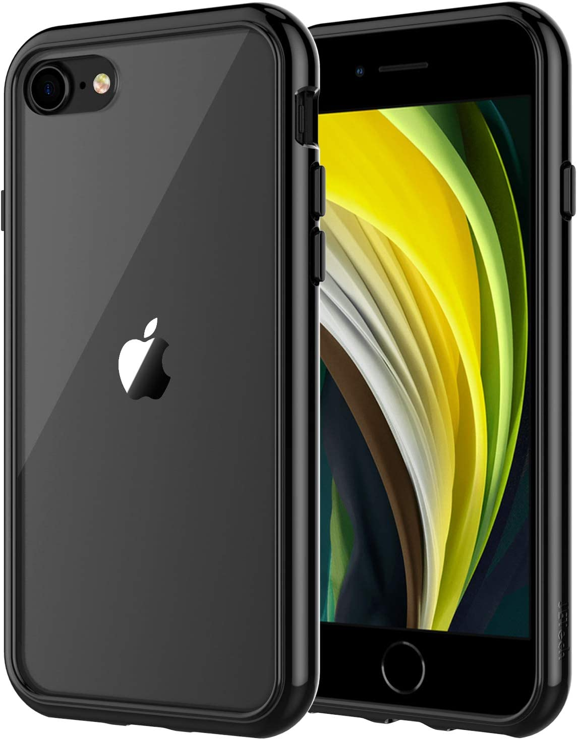 JETech Funda Compatible Apple iPhone SE 2ª Generación, iPhone 8 iPhone 7, Anti- Choques y Anti- Arañazos, Negro