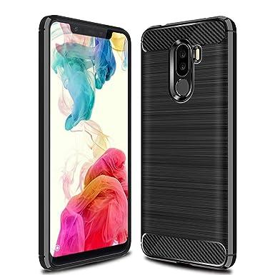 the best attitude adfca 3e0ef QULLOO Xiaomi Pocophone F1 Case Cover, Carbon Fiber TPU Silicone Case Ultra  Slim Thin Soft Gel Skin Flexible Lightweight Rubber Durable Anti-Scratch ...