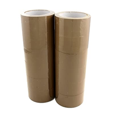 Dectane DWPB66B - 12 12 Rolls-Polypropylene Packing Tape, 48 MM x 66 M 40 microns Acryla/Brown: Automotive