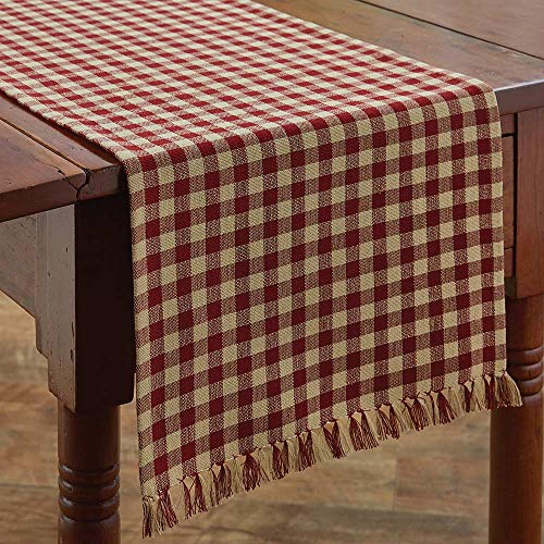 (Park Designs Country Red & Tan Check 13