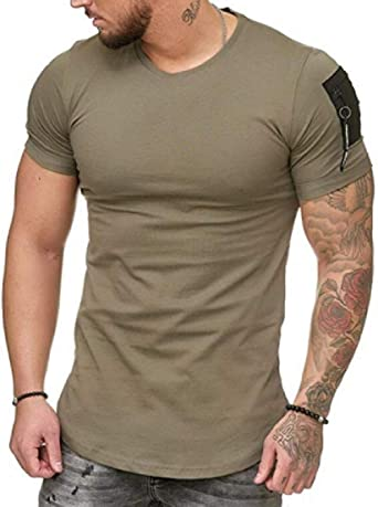 Zimaes-Men Plus Size Pullover Business Leisure Shirts T-Shirt