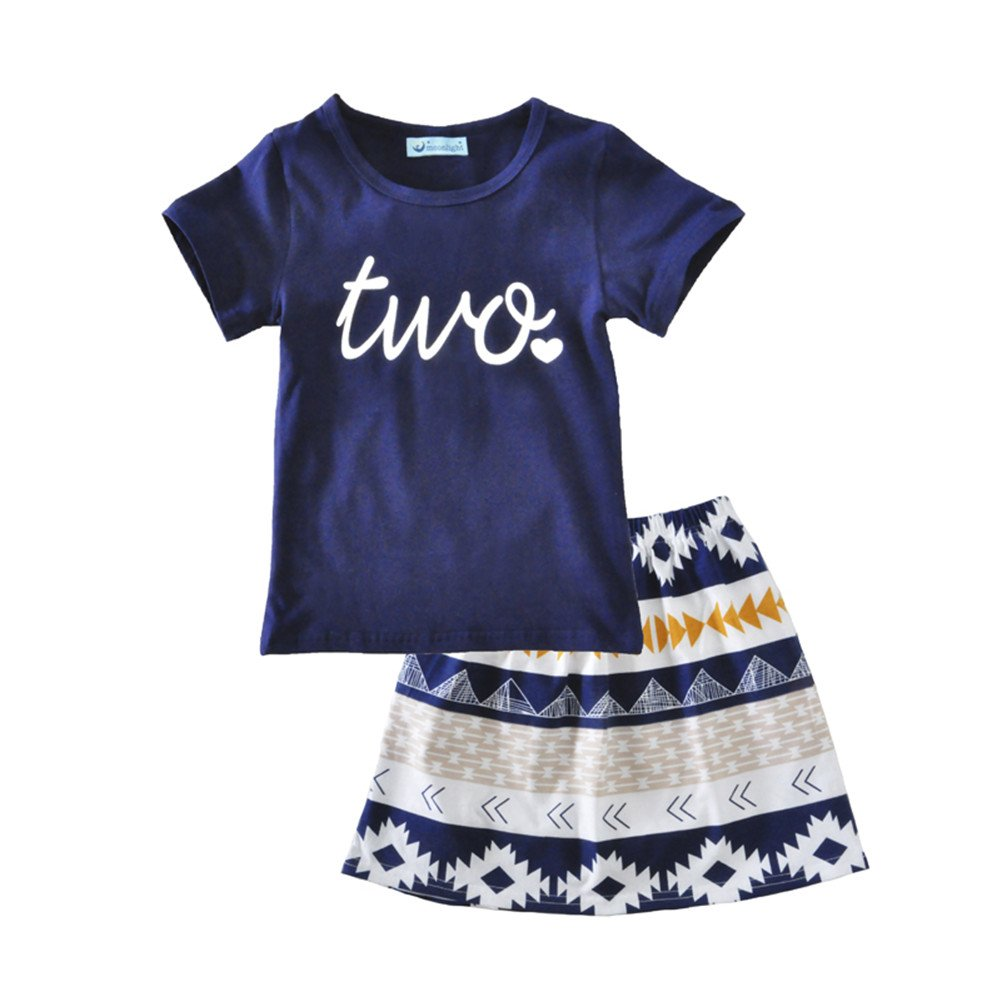 iceko Summer Style Little Girls 2 Piece Infant and Toddler Skirts Clothing Sets NK PLUS