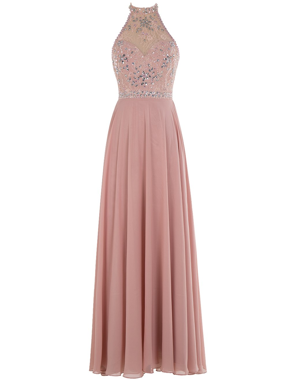 Bbonlinedress Long Prom Dresses Chiffon Beaded Jewel Evening Gowns