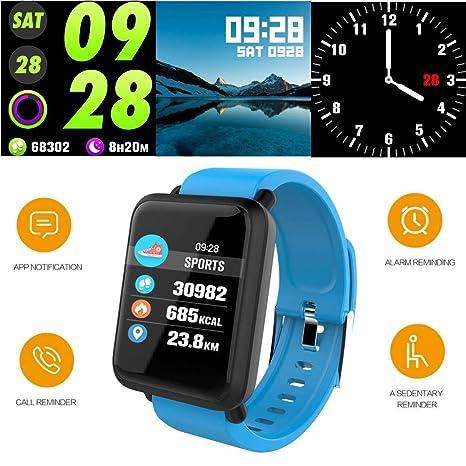 Reloj Inteligente Hombre Smartwatch,Reloj Mujer Deportivo,Pulsera de Actividad Inteligente Ip67,Fitness