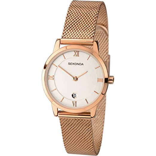 e2629b0b3ee2 SEKONDA Womens Analogue Classic Quartz Watch with Stainless Steel Strap  2482.27: Amazon.co.uk: Watches