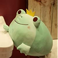 Cute The Crown Frog Plush Pillow Stuffed Down Cotton Kids Toys Kawaii Smile Frog Dolls for Children Birthday Gift…