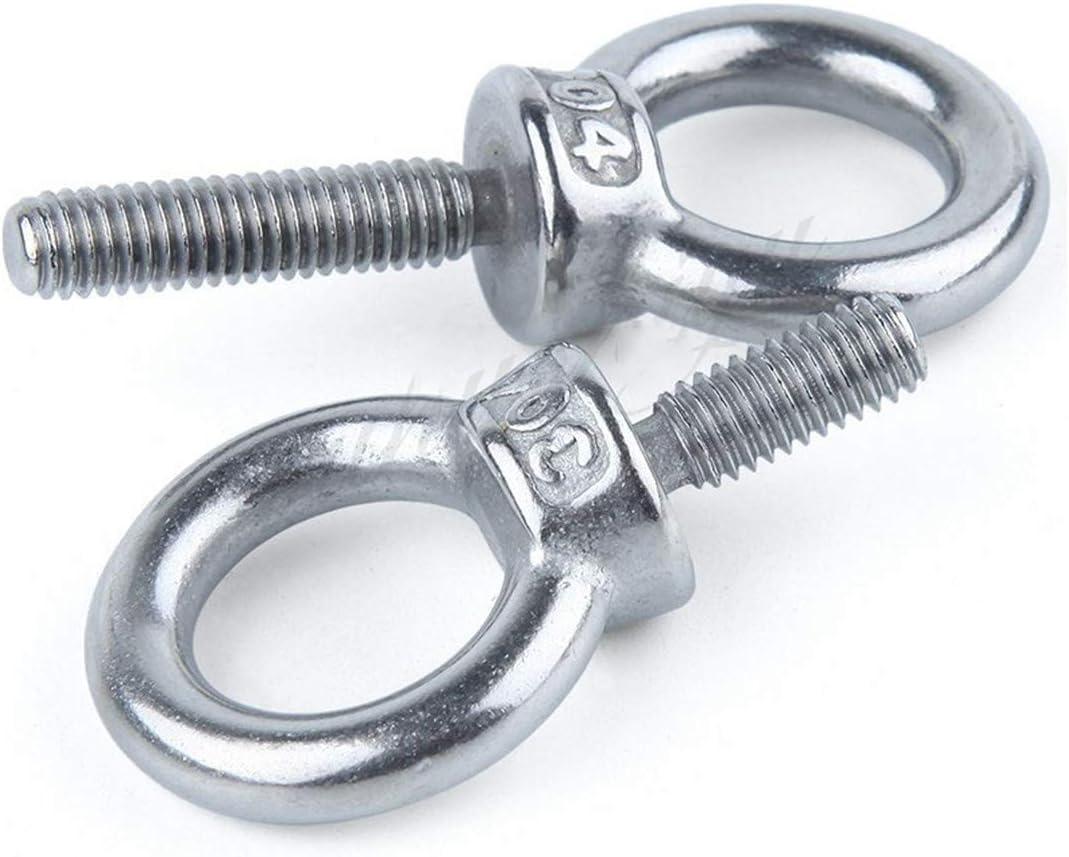 580 M3 M4 M5 M6 M8 M10 M12 Eye Bolt 304 Stainless Steel Marine Lifting Eye Screws Ring Loop Hole For Cable Rope Eyebolt M3 5Pcs
