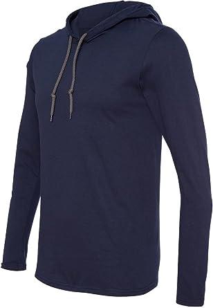 60a4919a7e6 Amazon.com  Anvil Lightweight Long-Sleeve Hooded T-Shirt (987AN ...