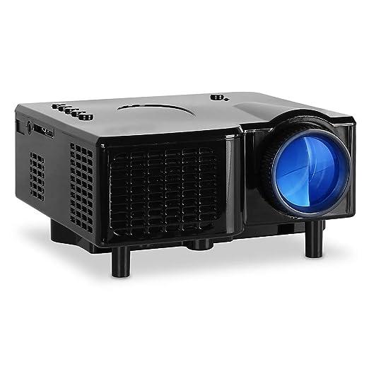 Mini proyector Proyector LED Proyección de Entrada AV-VGA portátil ...